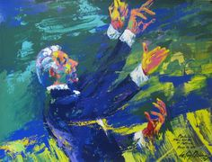 #Neiman, #LeRoy - #Stan #Kenton (1975) #Orig #Oil { #art #collect #print #music #vintage #retro #illustration #painting #colorful}
