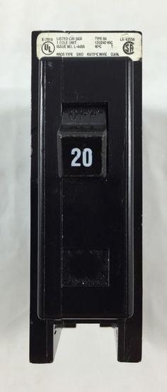 Cutler Hammer Circuit Breaker 20 Amp LR43556 Single Pole Quicklag #CutlerHammer