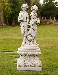 Young Affection Stone Sculpture U0026 Pedestal Large Garden Statue. Buy Now At  Http:/
