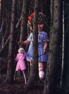 If you go down in the woods today, you're sure of a big surprise 🎀🌲🎀 Like A Doll, Lindsey Wixson by Tim Walker for Vogue Italia January styled by Jacob K 🌲🍭🌲 Look Fashion, New Fashion, Trendy Fashion, Fashion Design, Richard Avedon, The New Yorker, Vanity Fair, Agnes Deyn, Tim Walker Photography