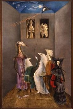 Leonora Carrington English-born Mexican artist, surrealist painter, and novelist) Modern Art, Contemporary Art, Illustration Art, Illustrations, Magic Realism, Mexican Artists, Art Sculpture, Visionary Art, Surreal Art