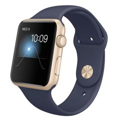 Apple Watch Sport - Caja de 42mm de aluminio en oro y correa deportiva azul noche - Apple (ES)