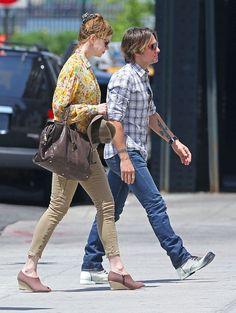 Nicole Kidman e Keith Urban in abiti casual