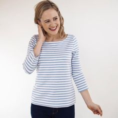 It's all about the @grainlinestudio lark tee in part two of the mini summer capsule wardrobe series this week. Tips and inspiration on the blog and in two new YouTube vids 😍 Sending weekend love to you all! #guthrieghani #guthrieandghani #larktee #grainlinepatterns #bretonstripes #bretontopguthrieghaniguthrieghani