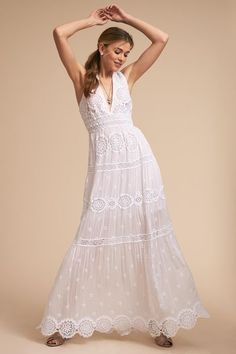 This collection of bohemian wedding dresses features boho dresses perfect for an effortless look. Shop BHLDN's hippie-inspired, bohemian wedding looks now! Sheer Wedding Dress, Bohemian Wedding Dresses, Boho Dress, Lace Dress, Vow Renewal Dress, Little White Dresses, Designer Dresses, Boho Fashion, Glamour