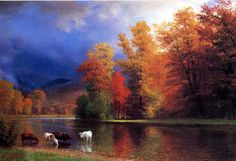 Albert Bierstadt | casi brillante, a veces llamada Luminismo.