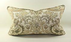 Kravet Lutron in Sandlewood Lumbar Pillow Cover, Cushion