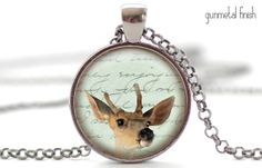 Baby Deer Necklace Fawn Pendant Woodland Animal by FrenchHoney