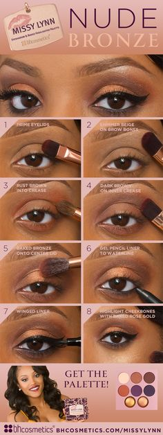 There's nothing prettier than a nude bronze look. Check out our official blog at www.bhcosmetics.com/blog/ to see more!