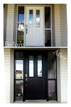 Painted front door...a tutorial!