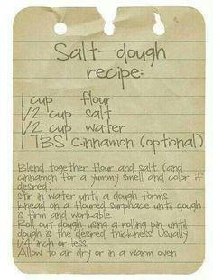 Salt dough recipe For ornaments! by R&M