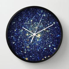 a glimmering galaxy clock.
