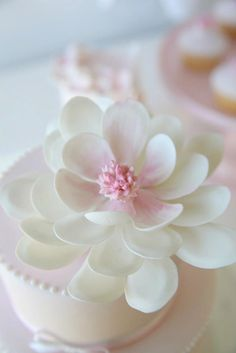 Beautiful large magnolia cupcake