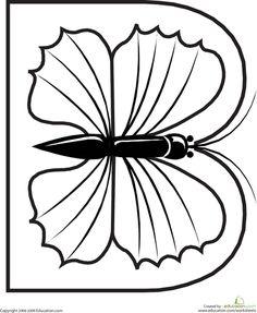 Animal del alfabeto Cartas Dibujos para colorear | Education.com