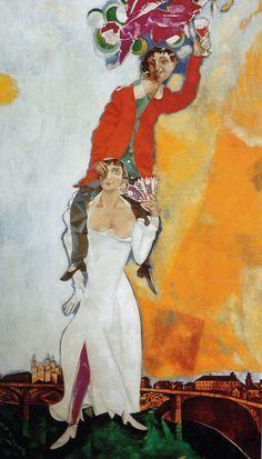 Doppio ritratto con bicchiere di vino (1917-1918)