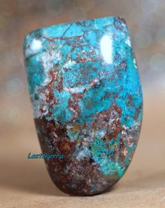 Rare Old Stock Arizona Bisbee Turquoise Designer Cabochon 28mmX42mmX10mm High Dome on Etsy, $32.00
