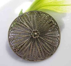 Vintage Silver Pin by jewelrypicker on Etsy, $29.00
