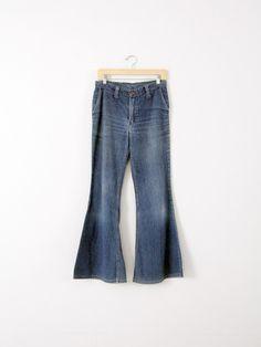 vintage 70s Wrangler bell bottoms, waist 30 - 86 Vintage