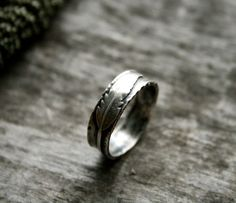 Sterling Silver Feather Ring Handcrafted Ring Nature Ring