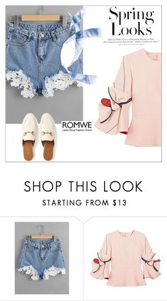 """""""Romwe contest"""" by irnes-baco ❤ liked on Polyvore featuring Roksanda, Gucci and H&M"""