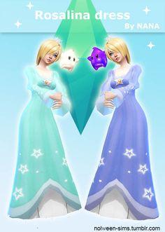 Rosalina dress by Nana at Nolween via Sims 4 Updates Check more at http://sims4updates.net/clothing/rosalina-dress-by-nana-at-nolween/