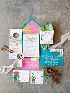 texas wedding inspiration // rue de seine gown // boho + cactus details