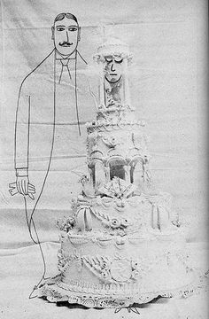 a wedding  Saul Steinberg, one of my favorite illustrators.