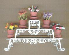 miniature plants quilled by Judy Hansen