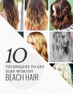 10 Ways to Get Beach Hair