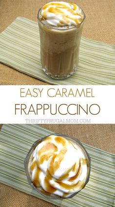 Easy Homemade Caramel Frappe Make your own caramel frappuccino with this delicious, easy recipe. Not only will it save you money, it's also a great way to use up leftover coffee! Frappachino Recipe, Caramel Frappe Recipe, Frappe Recipe Mcdonalds, Starbucks Caramel Frappuccino, Coffee Frappuccino, Coffee Creamer, Coffee Coffee, Gluten Free Recipes, Gourmet