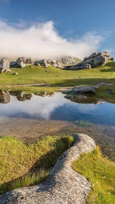 Castle Hill Reflection, Canterbury - New Zealand #newzealand
