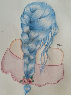 The Effective Pictures We Offer You About drawing sketches character A quality picture can tell you Mermaid Drawings, Colorful Drawings, Girly Drawings, Disney Art Drawings, Sketches, How To Draw Hair, Color Pencil Art, Pencil Art Drawings, Art Drawings Sketches Simple