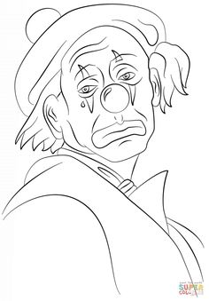 sad-clown-coloring-page.png (824×1186)