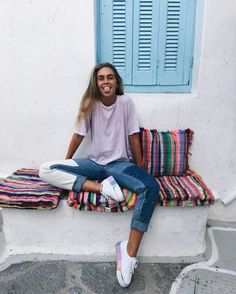 "16.1k Likes, 104 Comments - Carlota Weber Mazuecos (@carlotaweberm) on Instagram: ""✨greece you make me happy.   _______________________________________________ ⚠️for those of you…"""