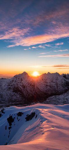 Norway mountain sunrise view mobile wallpaper