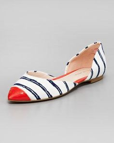 Stripes!!! This flat with go with so much in my closet!!