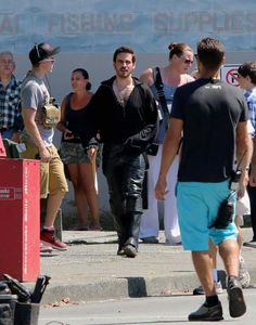 """Step aside people"" Colin on set"