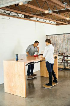Forget treadmill desk! Try a surfing desk instead.