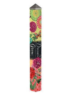 This striking garden art pole from artist Jennifer Brinley brings dramatic color and stirring words: Dream. Perfect for any garden setting. Mosaic Garden, Glass Garden, Mosaic Art, Mosaics, Peace Pole, Garden Poles, Pole Art, Different Kinds Of Art, Mosaic Flowers