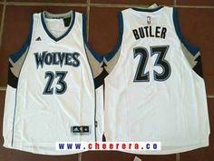 d12f151c759 Men's Minnesota Timberwolves #23 Jimmy Butler White Stitched NBA adidas  Revolution 30 Swingman Jersey
