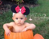 Image result for baby minnie mouse ears headband