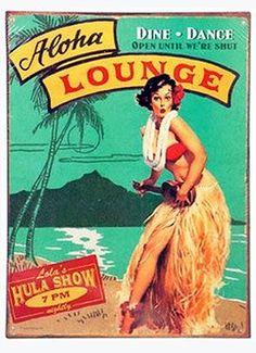 Travel Poster Vintage Hawaii New Ideas Hawaiian Art, Vintage Hawaiian, Aloha Vintage, Hawaiian Punch, Rockabilly, Vintage Tiki, Vintage Ads, Vintage Items, Tiki Art
