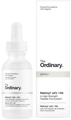 Matrixyl 10% + HA - 30ml - A High-Strength Peptide Formulation Matrixyl is a trademarked peptide composition developed by Sederma in France. This highly-effective composition has been shown to reduce the look of static and dynamic wrinkles. This formula contains two generations of Matrixyl, Matrixyl 3000 and Matrixyl Synthe'6, at a combined concentration of 10% by weight in a specialized Hyaluronic Acid delivery system. The peptide in Matrixyl 3000 is palmitoyl-pentapeptide 35 and the…
