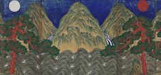 Sun, Moon, and Five Peaks - Asian Art Museum - Asian art for use in the classroom - lessons and activities, artworks, videos and background information