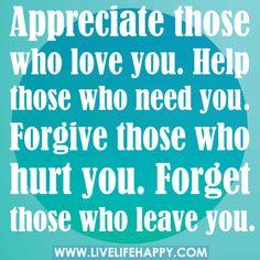true love quotes Appreciate those who love you....