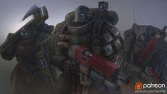 Warhammer 40k Art, Warhammer Fantasy, Deathwatch, Knight Art, Angel Of Death, Starcraft, Space Marine, Marines, Sci Fi