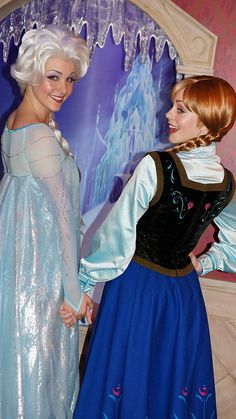 Some day I'll be Anna or Elsa.  I have to be!  I must!  That would be so amazing!