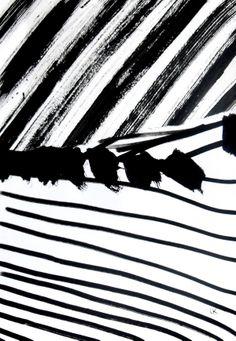 Monochrome Print Design - mark making; black & white pattern collage // Laurent Koller