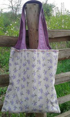 lienka97 / Levanduľová nákupná taška
