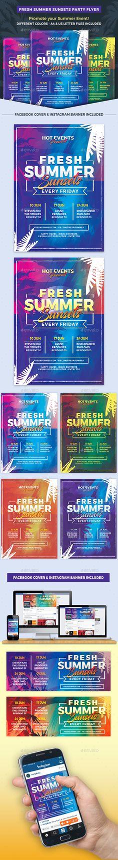 Fresh Summer Events Flyer Template PSD. Download here: https://graphicriver.net/item/fresh-summer-events-flyer-template/17092180?ref=ksioks